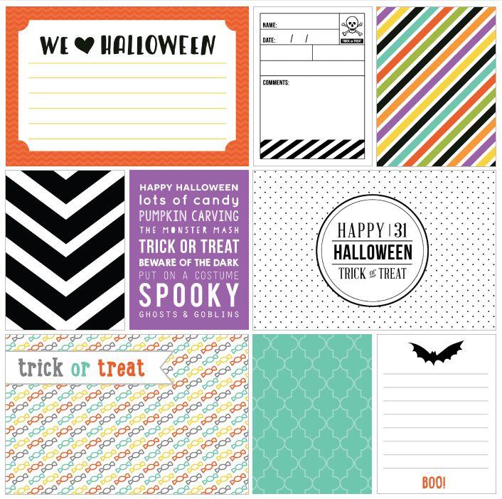 FREE Printable Halloween Journaling cards