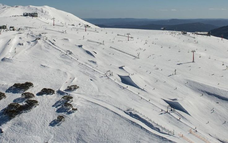 Amazing aerial view of the Mt Buller Frank MBP in August 2014