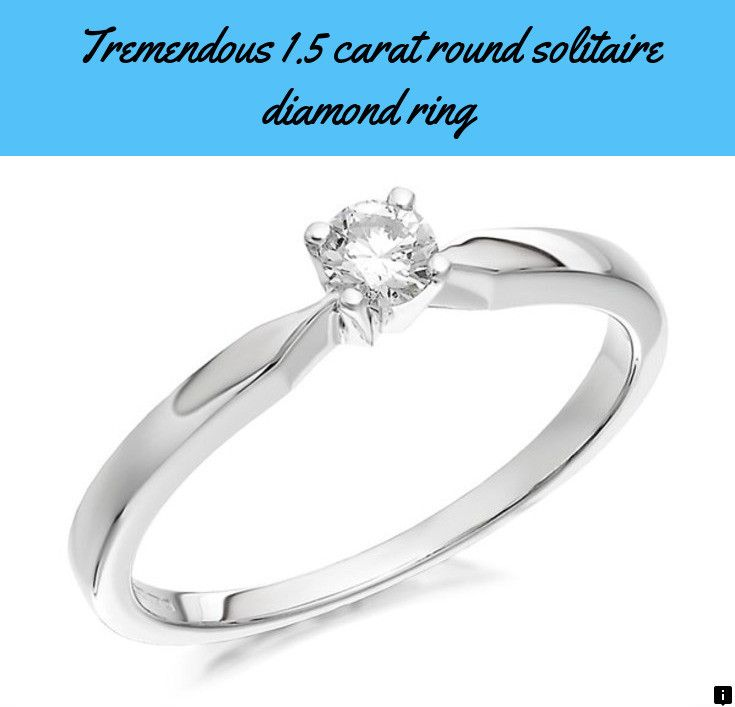 Check Out The Link To Learn More 1 5 Carat Round Solitaire Diamond Beautiful Diamond Engagement Ring Engagement Ring Designs Unique Hottest Engagement Rings