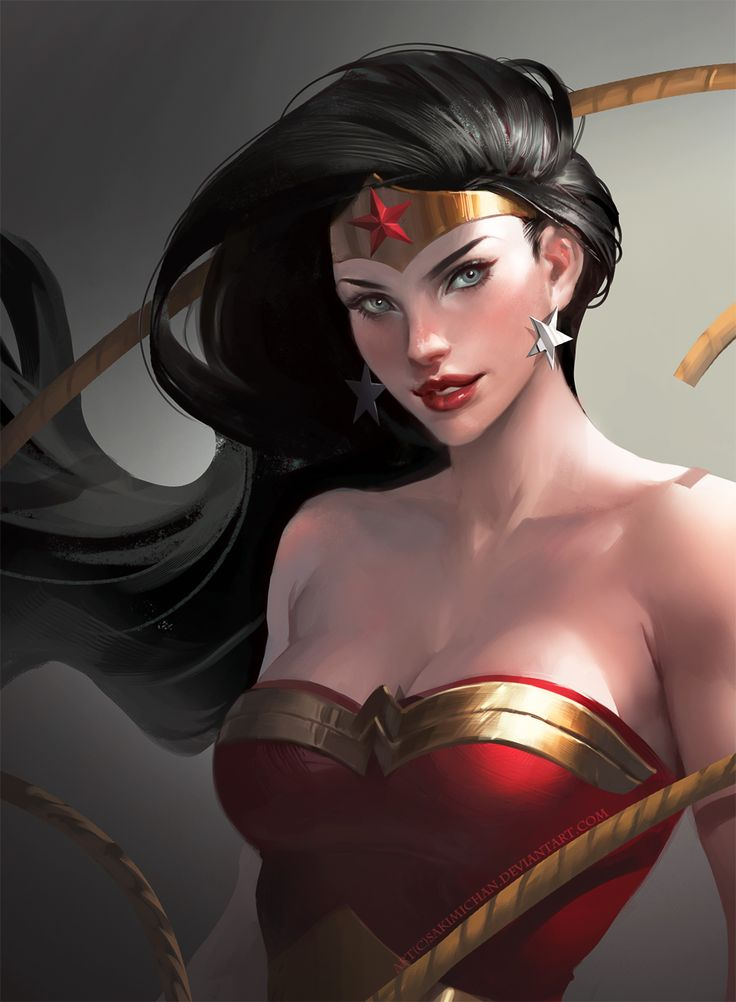 Wonder woman by sakimichan.deviantart.com on @deviantART