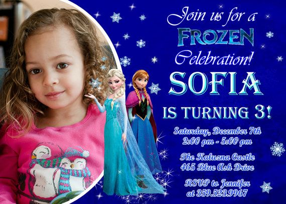 Frozen Birthday Invitations as beautiful invitations design