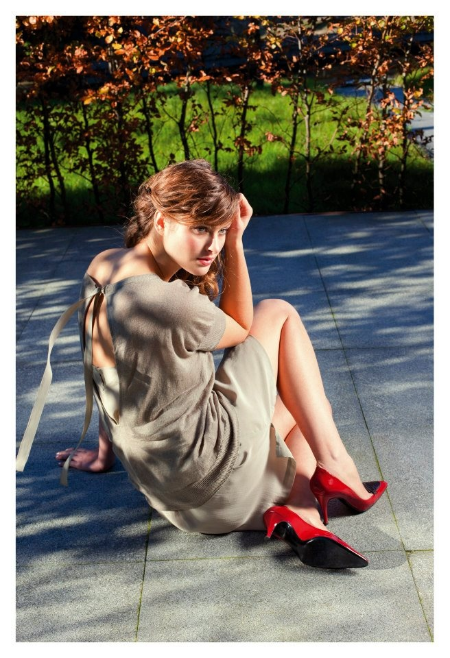 Red shoes in the summer of 2013