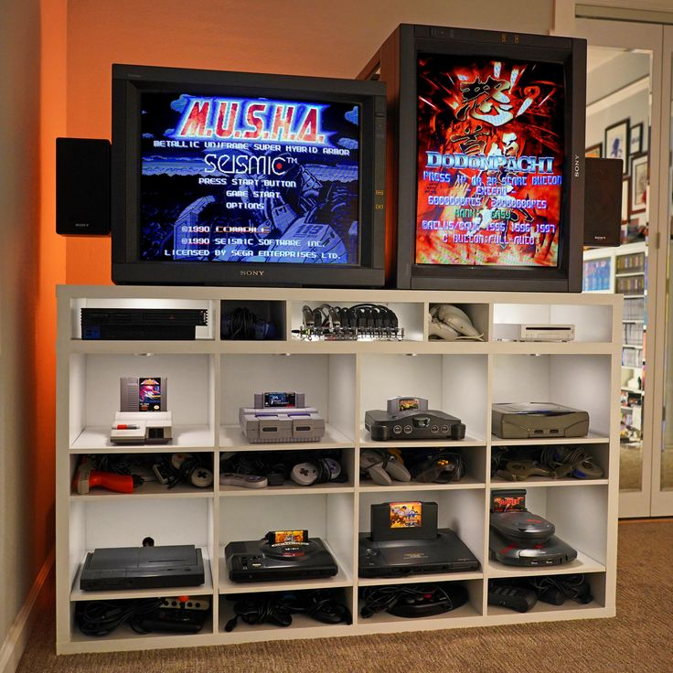 Awesome CRT gaming setup! in 2020 Retro games room