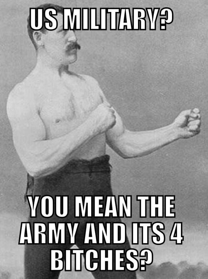 lmao! Love to all our military though! From a Grateful Nation!