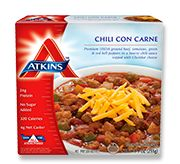 Chili Con Carne - Atkins Frozen Meals - 320 calories, Gluten Free