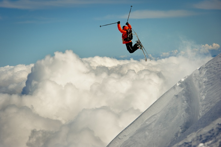 Above the clouds at La Parva, Chile