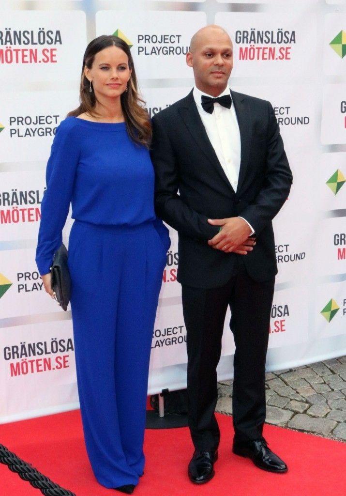 Princess Sofia of Sweden.. Diane von Furstenberg jumpsuit, Balenciaga clutch, and Stinaa.J heels..... - Celebrity Fashion Trends