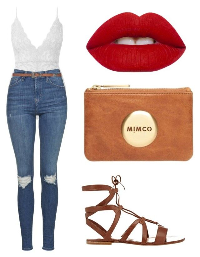 Untitled #68 by katelin-louise on Polyvore featuring polyvore, fashion, style, Topshop, Gianvito Rossi, Yves Saint Laurent, Lime Crime, Mimco and clothing