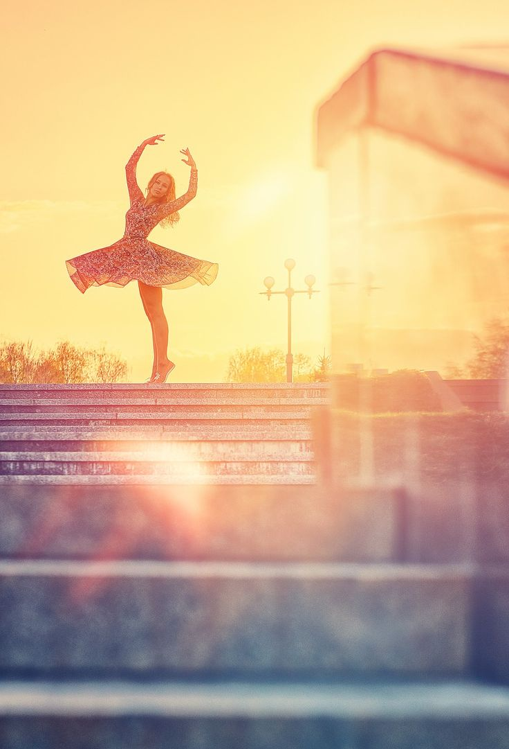 Dans, Silhouet, Sun, Ballerina, Beweging, Poseren