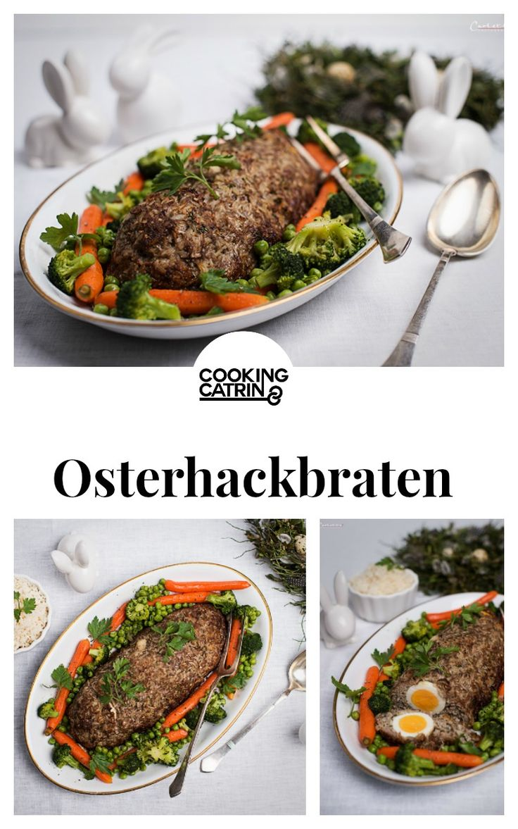 Osterhackbraten, Hackbraten, Braten, Osterbraten, Oster Rezept, easter recipe, easter, meat, minced meat, roast, easter roast, minced meat roast, traditional roast, hidden eggs roast, traditional recipe, recipe from austria, Rezept aus Österreich, traditionell, Traditionsrezept...http://www.cookingcatrin.at/osterhackbraten-mit-reis/