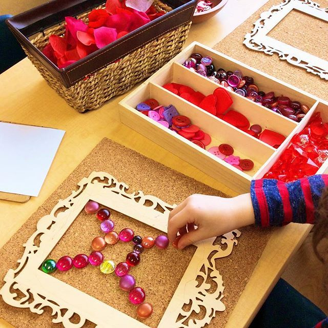 """Our Loose Parts Exploration Area is always a popular space in our classroom! Today, this student enjoyed designing and creating a """"love snowflake that helps spread love when it lands on people!"""" #ourkindergartenjourney  ≈≈"""