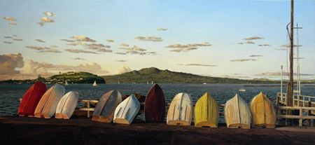 Justin Boroughs - Ten Dinghies and Rangitoto