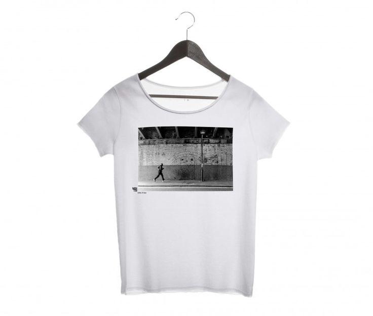 T-shirt marathon urbain, modèle femme