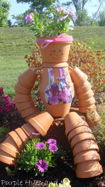 Tutorial for the most adorable flower pot girl...so cute wouldn't the kids love this (and Mum)