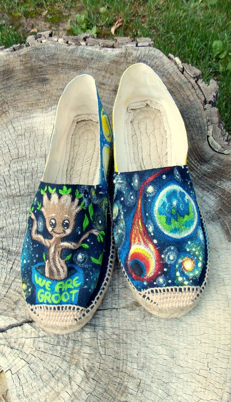 #HandPainted #Shoes Customized shoes #Watterproof colors #Baby Groot Theme #Funky unique shoes & Perfect gift. For orders& details please leave a message on Fabce book page Color MI