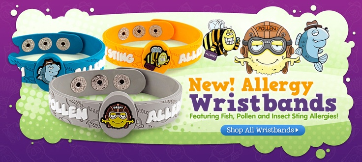 New wristbands from Allermates: Peanut Allergies, Allergies Stuff, Aj Allergies, Allergies Bracelets, Wristband Chantal, Allergies Education, Food Allergies, Kids Allergies, Multi Allergies Wristband