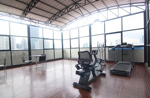 The Clover Residence's gymn area.