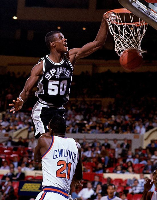 David Robinson, who played for the San Antonio Spurs from 1989 to 2003.