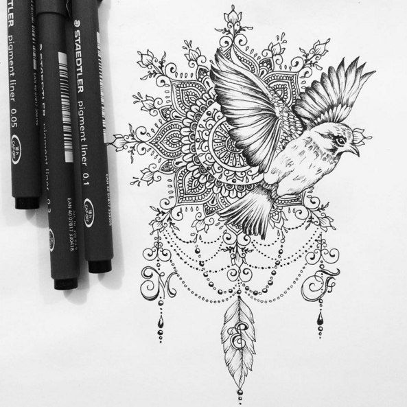 Картинка с тегом «bird, art, and drawing»