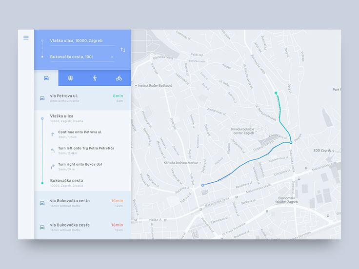 Directions Module UI Challenge by J. Brown