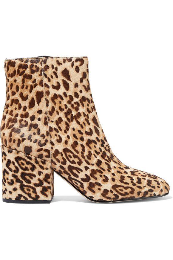 2c6c657bc851 SAM EDELMAN Taye leopard-print calf-hair ankle boots