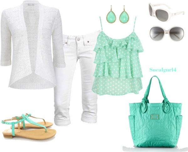 """Minty Fresh""Socalgurl4, Fashion Passion, Clothing, Minty Fresh, Multicolored Fashion, Fashion Gorgeous, Polyvore, Fashion Mi Style, Dreams Closets"