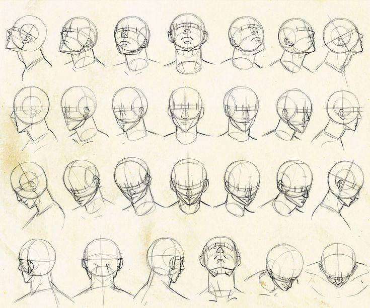 いろんな角度から描きやすい顔のアタリの描き方を考えてみました。 [15]