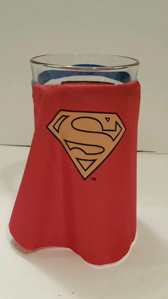 Superman Drinking Glass Pint Size Cup Fabric Cape Tavern Bar Glassware Superhero   Collectibles, Barware, Glasses, Cups, Mugs   eBay!