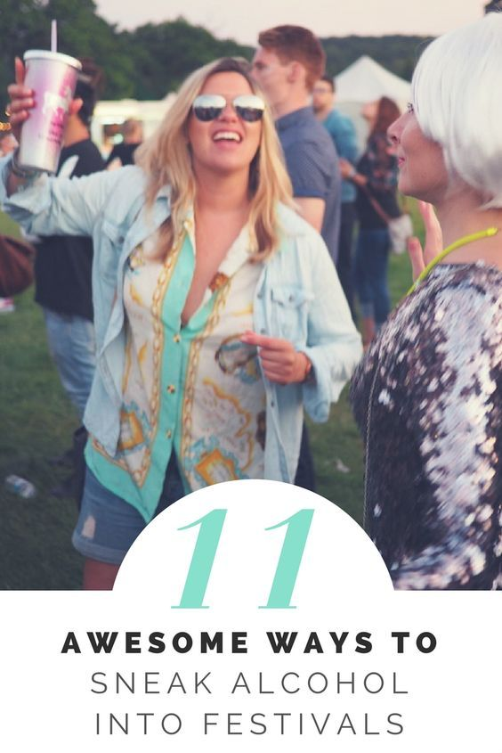 How to sneak alcohol into festivals. Here are OVER 11 ways to sneak the booze in to save money on festivals.