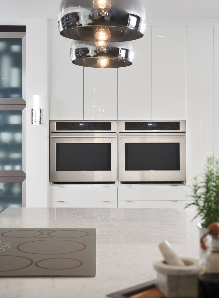 Place Your Double Ovens Side By For A Unique Kitchen Look