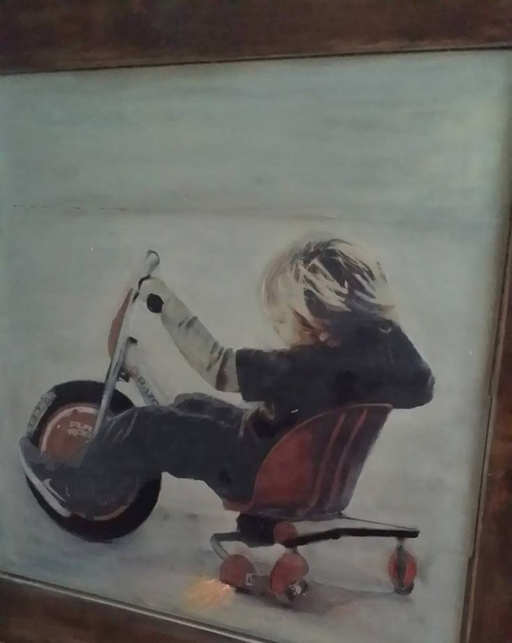 Custom Story Portrait Personalized Art to tell Your Child's Story. Hand Painted on Distressed Slatted Wood Frame by greenbeans4baby on Etsy