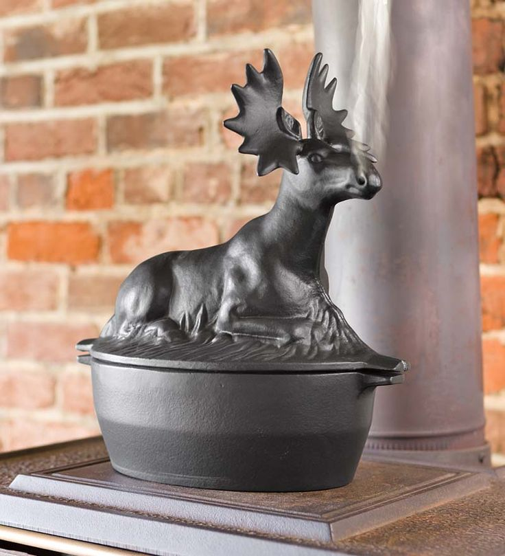 Cast Iron Moose Wood Stove Steamer (steam comes out his nostrils). $79.95 USD