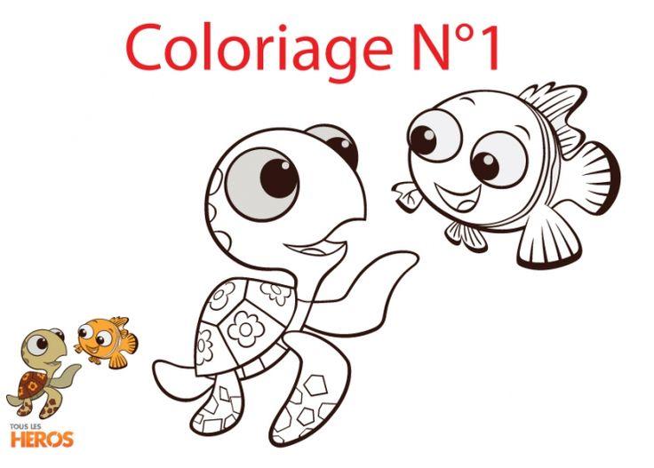73 best coloriage nemo le monde de dory images on pinterest