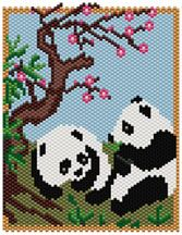 Pandas Beading Pattern by Sigrid Wynne-Evans at Bead-Patterns.com