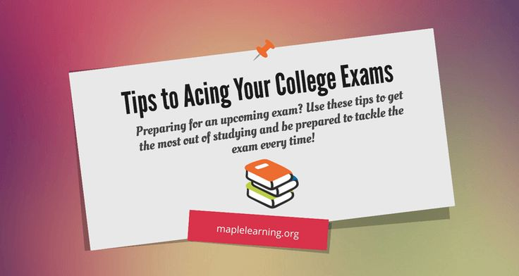 Preparing for an upcoming exam? Use these tips to get the most out of studying and be prepared to tackle the exam every time!