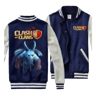 Clash of Clans cool sweatshirts for men COC game Minion baseball jackets