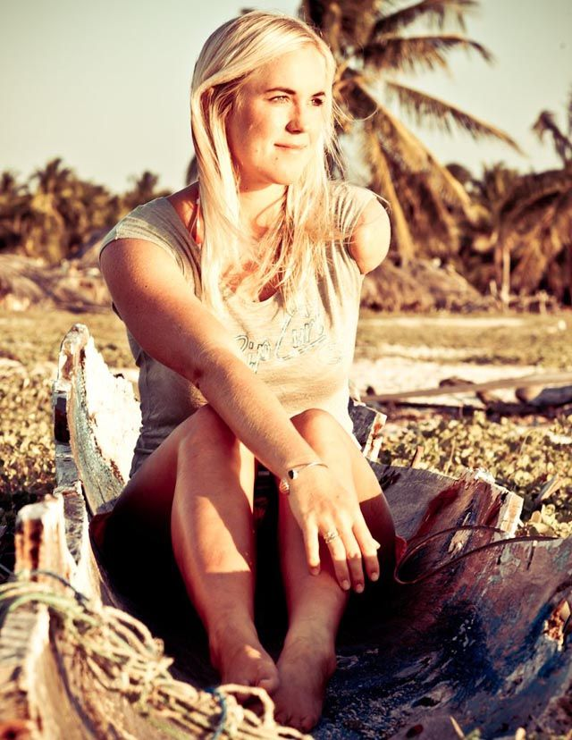 Bethany Hamilton she is my inspiration! I wish I could be like her. I love her so much