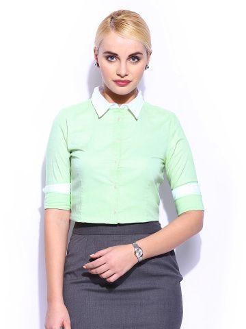 Mast & Harbour Women Green Shirt
