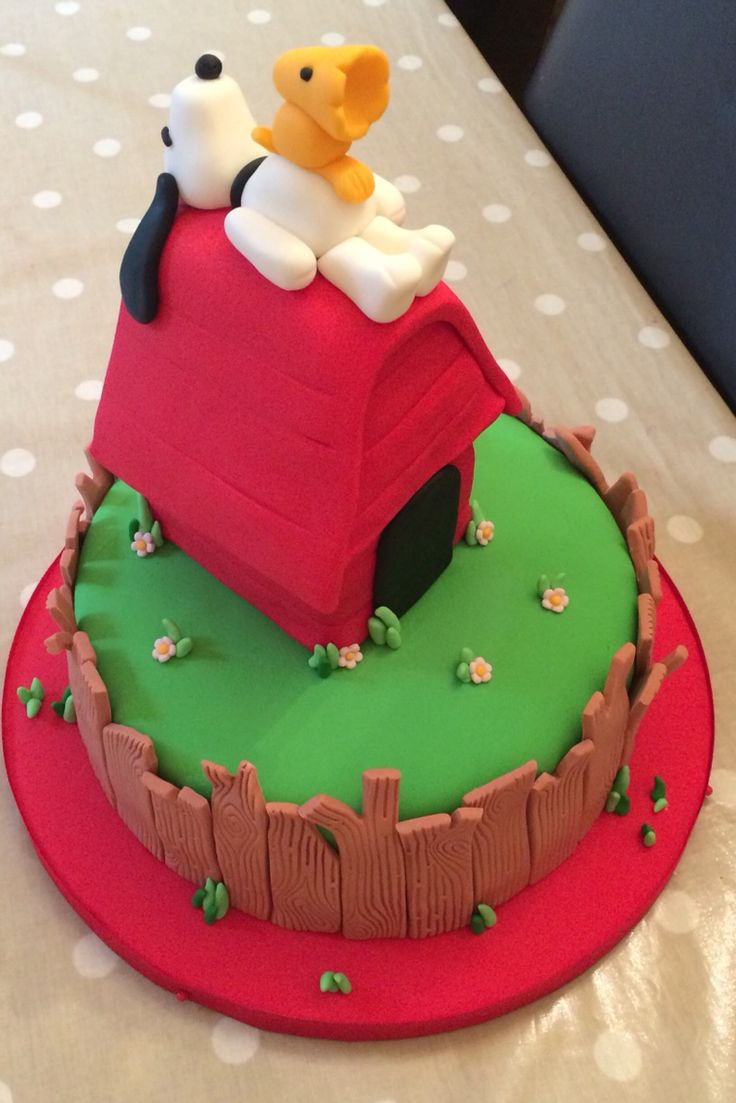 Snoopy Birthday Cake                                                                                                                                                     More