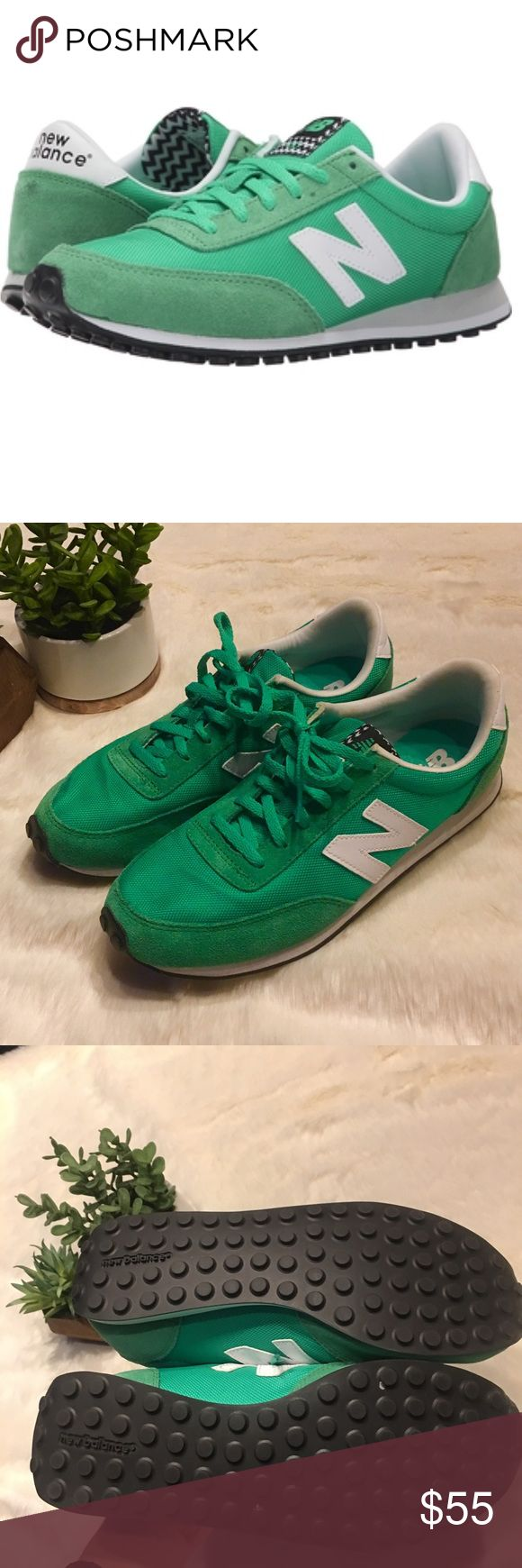 Kelly Green New Balance 410 - NWOT Never worn! I LOVe these but slightly too small for me  Bright Kelly Green color. Leather toe and heel. New Balance Shoes Sneakers