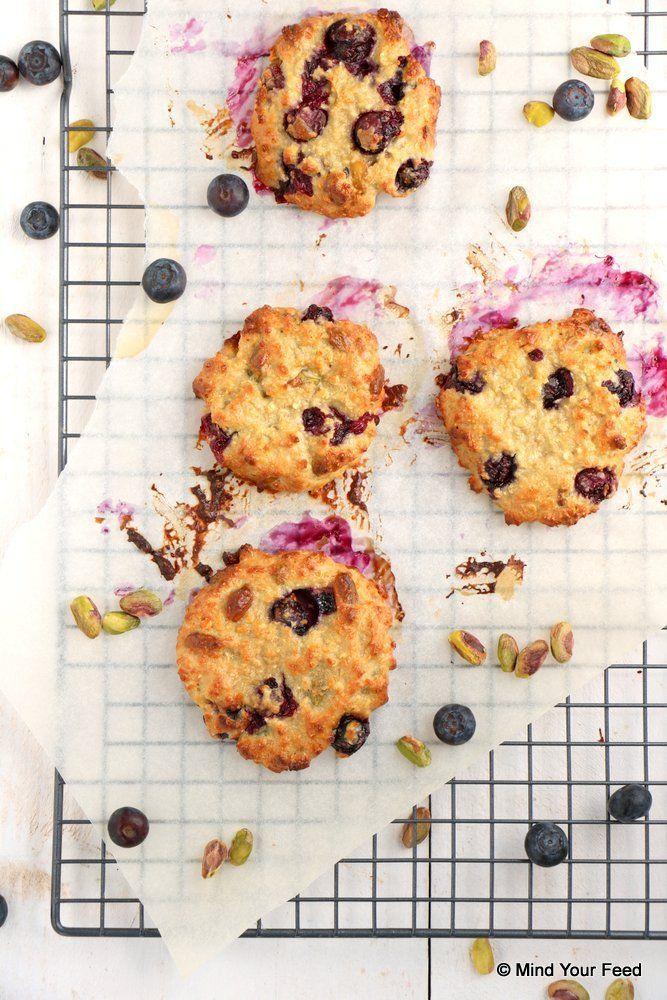 Blauwe bessen havermout koekjes - Mind Your Feed