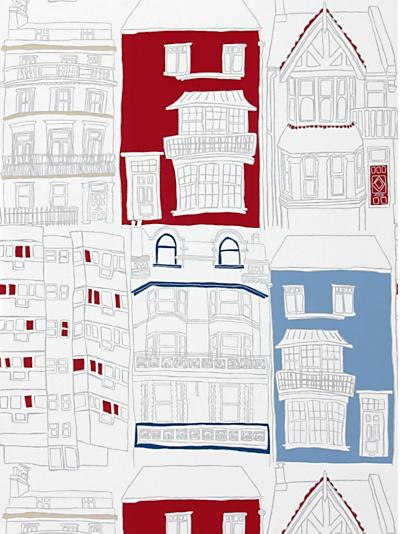 Buy Harlequin Wallpaper, Brighton 70512, Red / Blue online at JohnLewis.com - John Lewis
