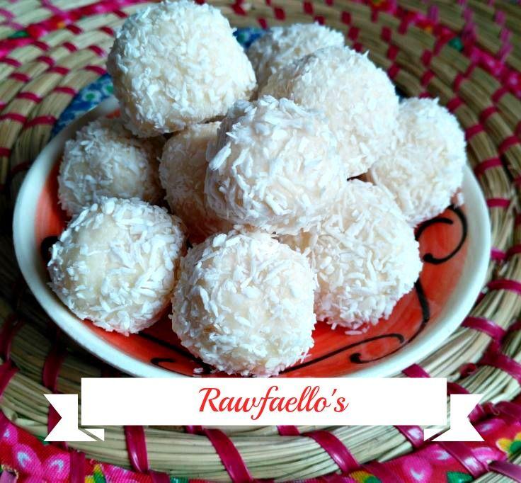 Rawfaello, kokosbolletjes met amandel recept
