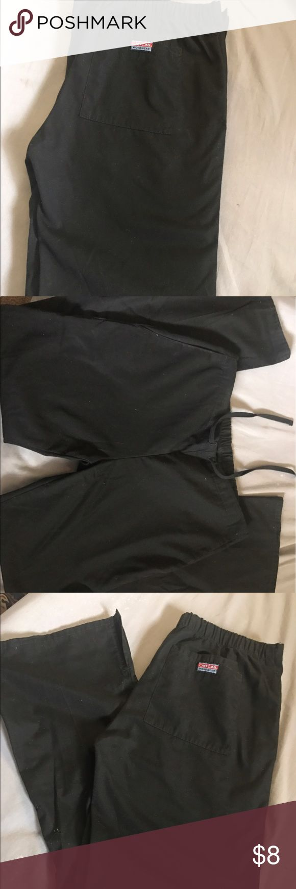 Black scrub bottoms! Size XXS . . Cherokee brand! Worn three times. They were too tight on my legs should have gotten an XS. The brand is Cherokee. They are flare with slits. They also have a draw string. Will steam before shipping :) thank you for you r time:) Cherokee Other