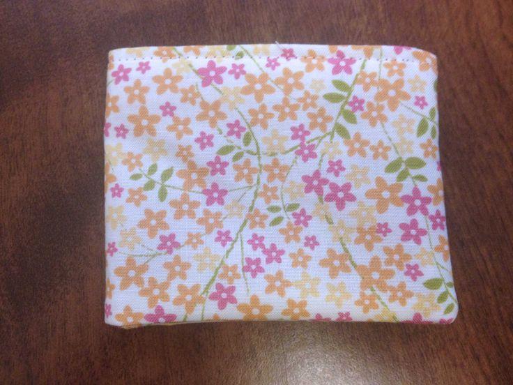Pink and Orange Girls Bi Fold Wallet with Velcro Flowers by BethsCakeKitShop on Etsy