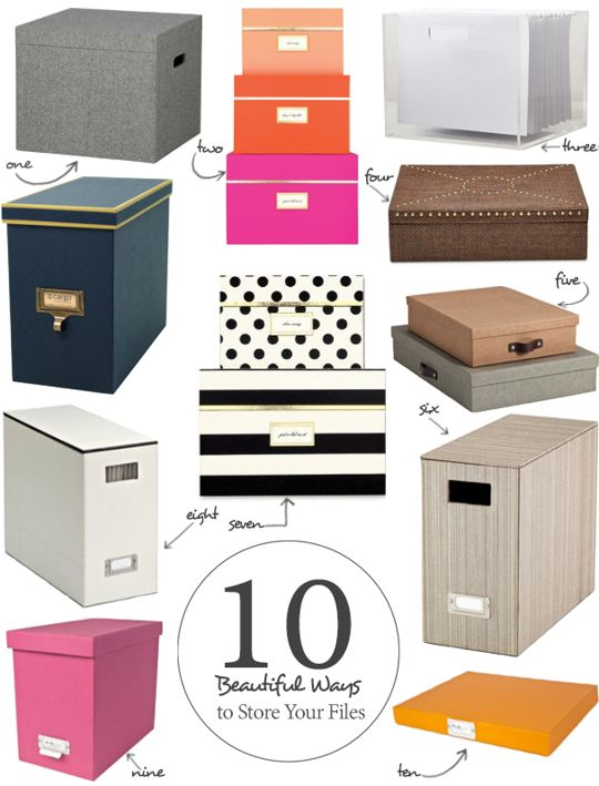 10 Beautiful Ways to Store Your Papers  sc 1 st  Pinterest : hanging box files - Aboutintivar.Com