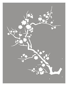 Japanese Blossom Stencil                                                                                                                                                                                 More