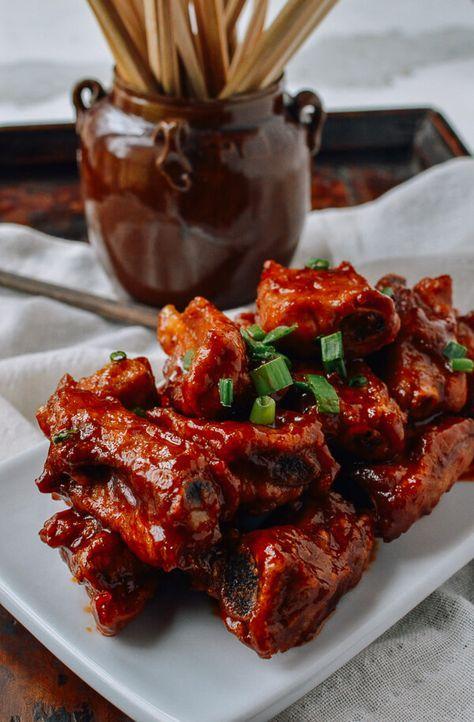 Peking-Style Pork Ribs recipe, by thewoksoflife.com