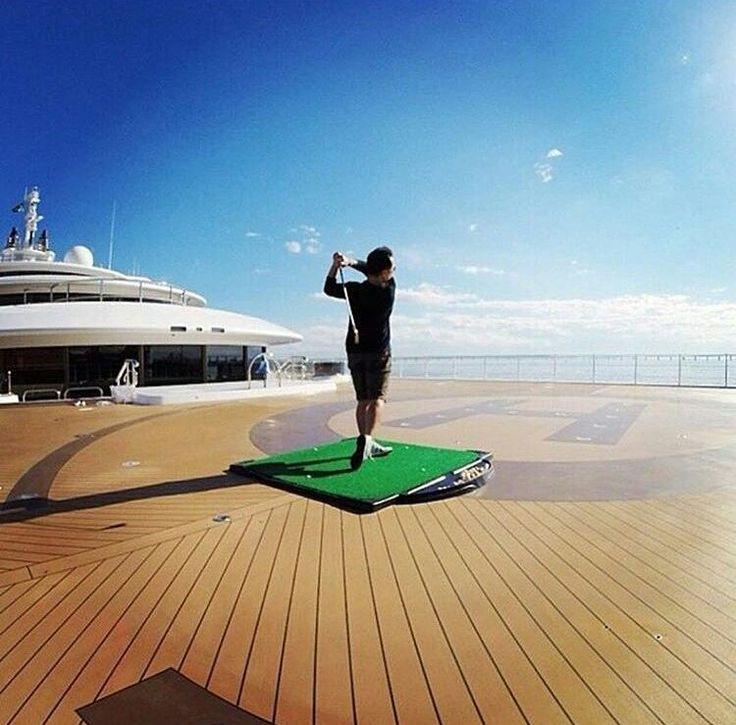 "World Of Yacht (@worldofyacht) on Instagram: ""Golf Anyone?  #worldofyacht #yacht #ship #shipyard #ibiza #spain #france #portugal #marine #sea…"""