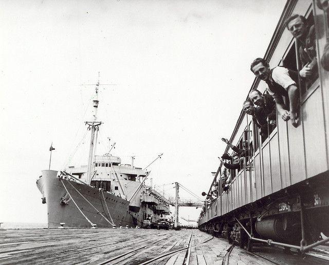 HMAS Kanimbla and Train to Bonegilla with migrants, 1947